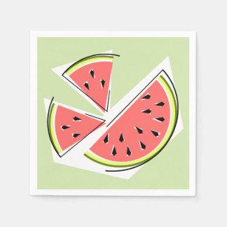 Watermelon Green Pieces napkins paper