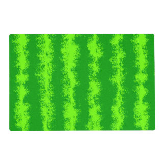 Watermelon Green Rind Summer Fruit Pattern Laminated Placemat