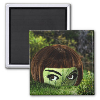 Watermelon head,magnet 2 inch square magnet