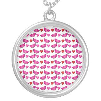 Watermelon heart pattern custom necklace