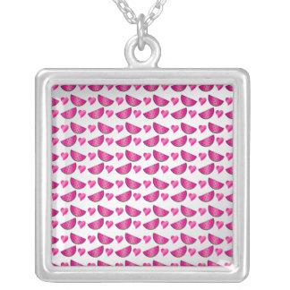 Watermelon heart pattern pendant