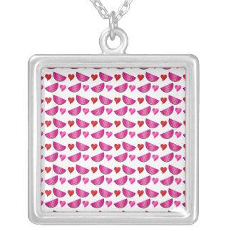 Watermelon heart pattern jewelry