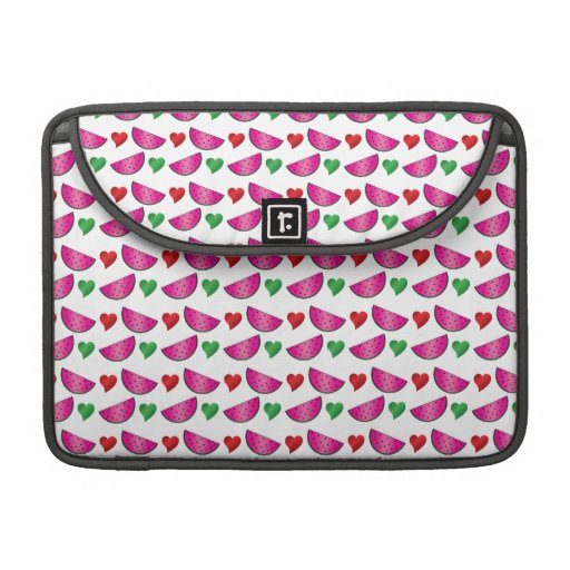 Watermelon heart pattern sleeves for MacBook pro