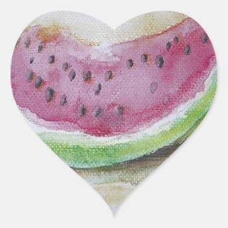 Watermelon Heart Sticker