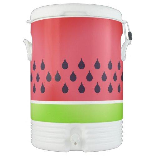 Watermelon  Igloo Beverage Cooler, Ten Gallon Beverage Cooler