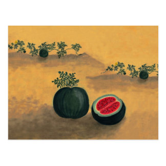 Watermelon in the Garden Post Card