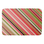[ Thumbnail: Watermelon-Inspired Stripes Bath Mat ]