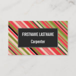 [ Thumbnail: Watermelon-Inspired Stripes Business Card ]