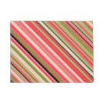 [ Thumbnail: Watermelon-Inspired Stripes Doormat ]
