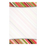 [ Thumbnail: Watermelon-Inspired Stripes Pattern Stationery ]