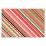 [ Thumbnail: Watermelon-Inspired Stripes Tissue Paper ]