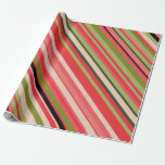[ Thumbnail: Watermelon-Inspired Stripes Wrapping Paper ]