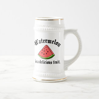 Watermelon Is A Delicious Fruit 18 Oz Beer Stein