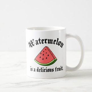 Watermelon Is A Delicious Fruit Classic White Coffee Mug