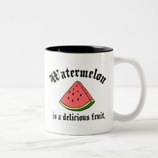 Watermelon Is A Delicious Fruit Two-Tone Coffee Mug