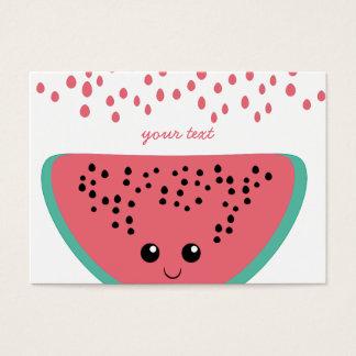 Watermelon kawaii business card