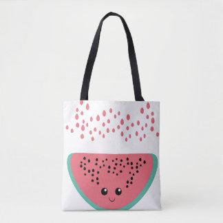Watermelon kawaii tote bag