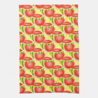 Watermelon Kitchen Towel on Yellow Background