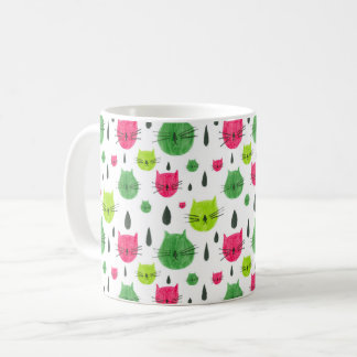 Watermelon kitty coffee mug