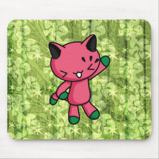 Watermelon Kitty Mousepads