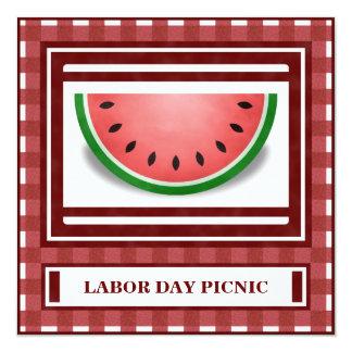 Watermelon Labor Day Picnic BBQ 4th of July Invite