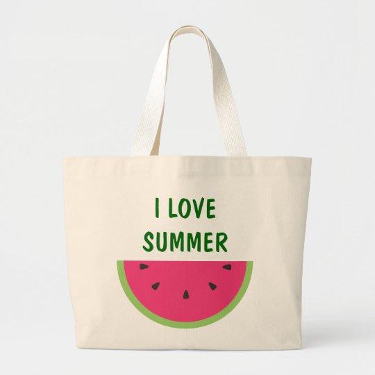 Watermelon Large Tote Bag