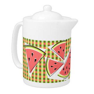 Watermelon Line Check teapot