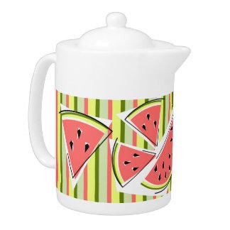 Watermelon Line Stripe teapot