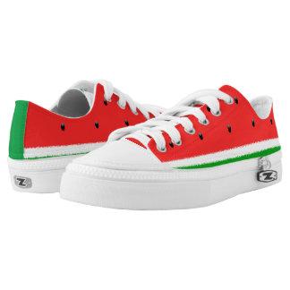 Watermelon low top shoes.
