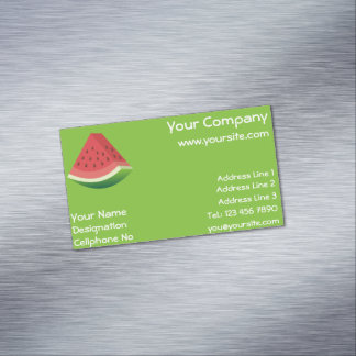 Watermelon Magnetic Business Card