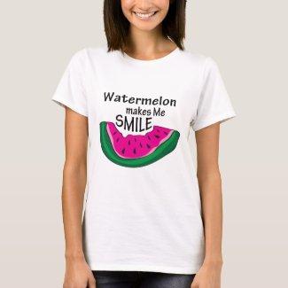 Watermelon Makes Me Smile T-shirt
