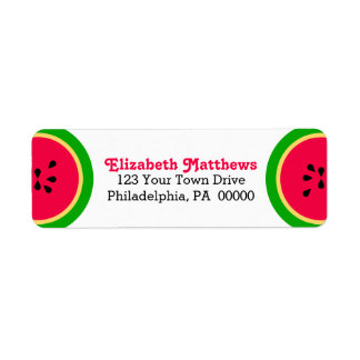 Watermelon Modern Summer Fun Label