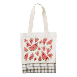 Watermelon Multi Zazzle HEART tote bag