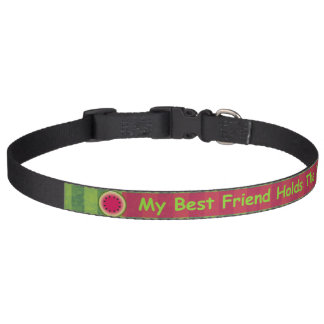 Watermelon My Best Friend Holds The Leash Collar