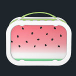"""Watermelon Ombre Stripes Lunch Box<br><div class=""""desc"""">Juicy,  watermelon fruit bags and accessories with soft,  ombre colors. Cute for spring and summer. Perfect for watermelon lovers and foodies!</div>"""