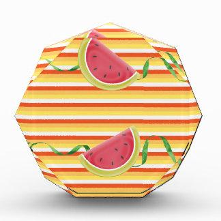 Watermelon on Green Ribbon Look, Red, Yellow, Oran Award