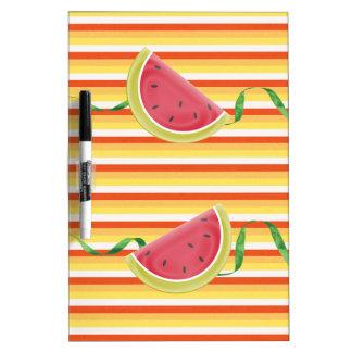 Watermelon on Green Ribbon Look, Red, Yellow, Oran Dry-Erase Board
