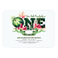 Watermelon One in a Melon 1st Birthday Invitation
