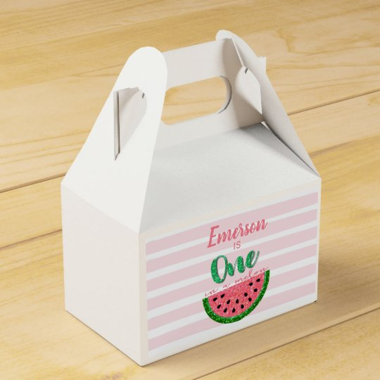 Watermelon One In A Melon Favor Boxes Birthday Favor Box