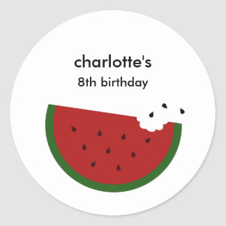 Watermelon Party Favor Sticker or Envelope Seal