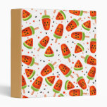Watermelon pattern 3 ring binder