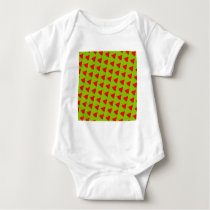 Watermelon pattern baby bodysuit