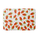 Watermelon pattern bathroom mat