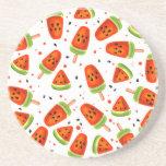 Watermelon pattern drink coaster