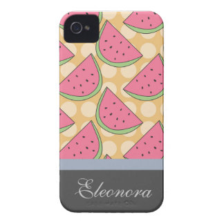 Watermelon Pattern, Orange Polka Dots Case-Mate iPhone 4 Case