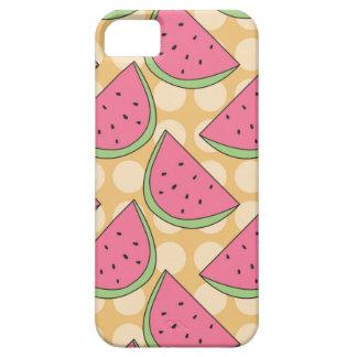 Watermelon Pattern, Orange Polka Dots iPhone SE/5/5s Case