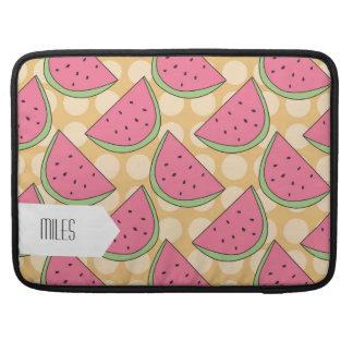 Watermelon Pattern, Orange Polka Dots Sleeves For MacBooks
