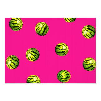 watermelon pattern pink personalized invitations