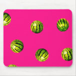 watermelon pattern pink mousepad