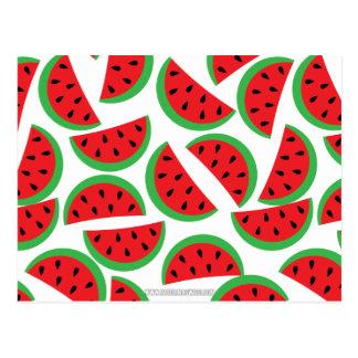 Watermelon pattern postcard